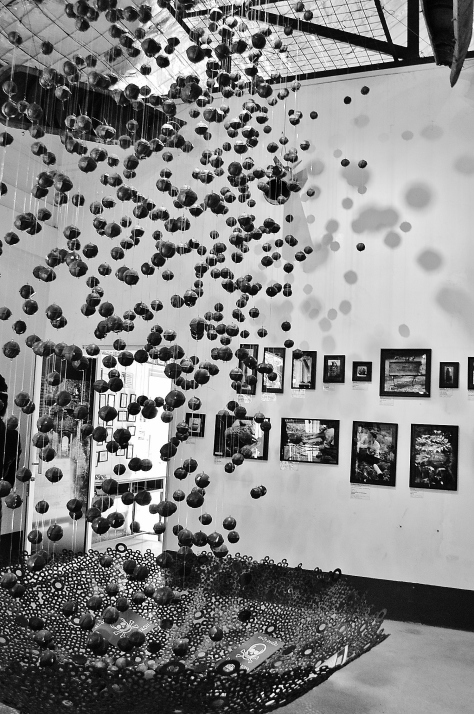 Art made from cluster bombs, COPE Visitor Center, Laos, backpacksandblackboards.com