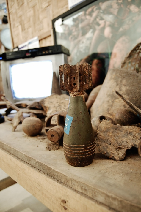 Examples of bombs found in Laos, COPE Visitor Centre, backpacksandblackboards.com