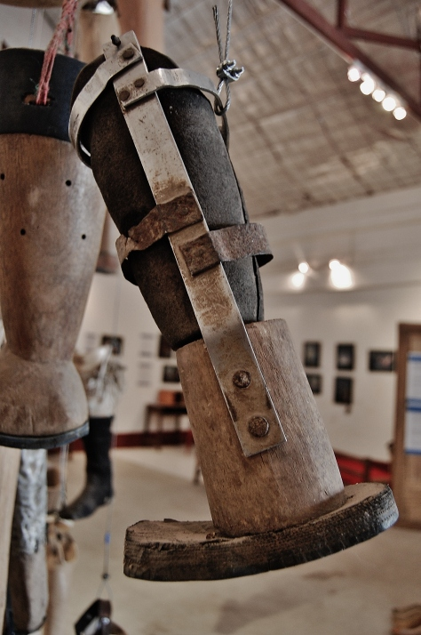 Homemade Prosthetic, COPE Visitor Centre, Laos, backpacksandblackboards.com