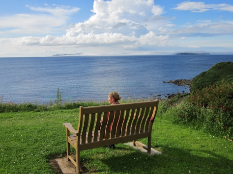 Reflection in Ballycastle, Northern Ireland, backpacksandblackboards.com
