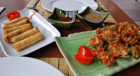 Kin-Baung-Kyaw and Vegetable Spring Rolls