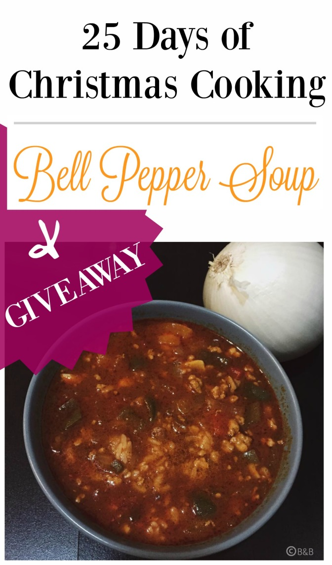 Day 3: Bell Pepper Soup + Giveaway
